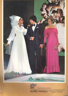 Alfred Angelo vintage designer fashion bride ad from August 1978