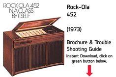 "Rock-Ola 452 ""Console"" (1973) Trouble Shooting Guide  Jukebox Trouble Shooting Guide available $15 Download at jukeboxmanuals.com   Tags: Rock Ola RockOla"
