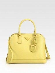 d0ee4385db1d Prada Saffiano Promenade Open Top Handle Bag in Yellow (mimosa-yellow)  Designer Shoes. Designer Shoes On SaleCheap ...