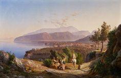 Carl Wilhelm Götzloff (1799 Dresden - 1866 Neapel) BLICK AUF SORRENT