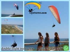 Paragliding Promotions Ecuador You can fly through the air and enjoy every landscape that nature offers us . Also if you come with your partner , best friend you get $ 5.00 discount. For a group of 6 pay 5 and one is free. Come and enjoy the adrenaline sport with certified instructors and experiences. Take advantage of our promotions !