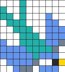 Swallow Perler Bead Pattern / Bead Sprite