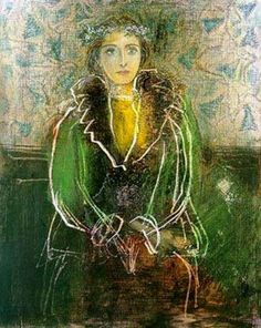 Pablo Picasso (Spanish, 1881-1973): Dora Maar with a Crown of Flowers, 1937. Pencil, pastel and scratching drawing, 11-1/2 x 9-1/4 inches. Private Collection