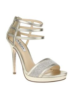 """Lord & Taylor Light Gold 4"""" high heel sandals — on clearance for $29.70"""