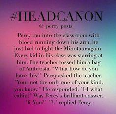 Percy and Teacher headcanon