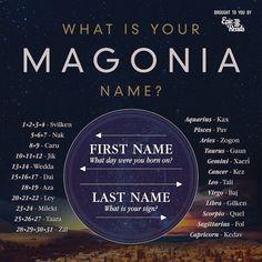Magonia Book Name Chart