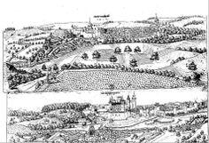 VUE PANORAMIQUE DE LA VILLE DE MONTBRON EN 1612