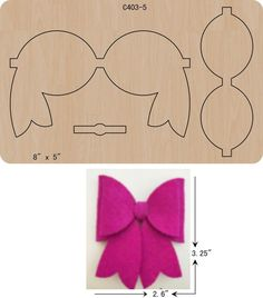 Best 12 Faux Leather bows are super popular right now. You can get in on this new craze with this cheer bow template set. Set includes: a PNG file of each piece, a SVG file of all the pieces together, and a inch PDF file for easy printing. Making Hair Bows, Diy Hair Bows, Diy Bow, Felt Crafts, Diy And Crafts, Bow Template, Bow Pattern, Felt Bows, Felt Patterns