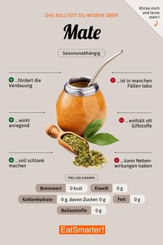 Mate tea instead of coffee - Healthy Drinks Smoothie Drinks, Healthy Smoothies, Healthy Drinks, Healthy Eating, Healthy Recipes, Detox Drinks, Healthy Sport, Healthy Nutrition, How To Stay Healthy
