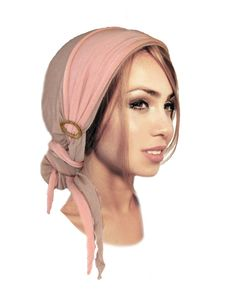 Brown Head Scarf Versatile Long Ties Braid Boho by ShariRoseShop