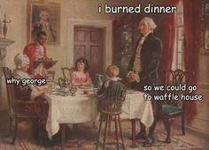 I burned dinner