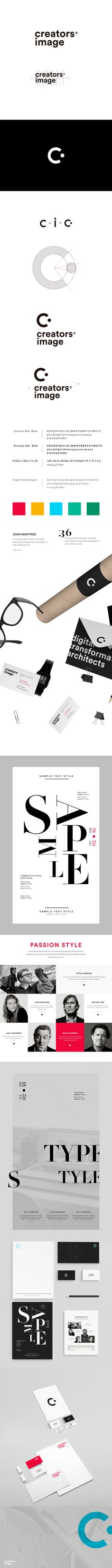 Brand Identity for Creators Image. #typography #identity #branding #brandidentity