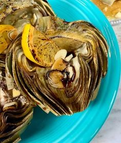 These Roasted Artichokes with a Garlic Dipping Sauce are pressure cooked and seasoned with lemon and tamari then roasted to crispy, tender perfection. Weight Watchers Goulash Recipe, Weight Watchers Meals, How To Prepare Artichokes, High Protein Vegetables, Frozen Vegetables, Pressure Cooker Artichokes, Baked Blooming Onion, Using A Pressure Cooker, Pressure Cooking