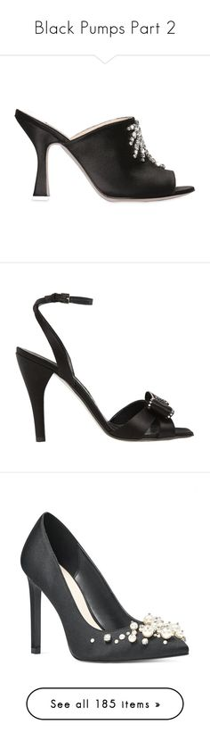 """""""Black Pumps Part 2"""" by melzy ❤ liked on Polyvore featuring black, Pumps, Heels, Louboutin, shoes, black high heel shoes, satin mules, kohl shoes, black satin mules and black mules"""