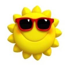 Cartoon Cute Sun clip art
