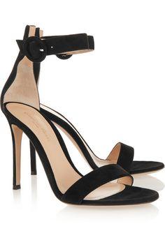 abf7e90ed0b2 Gianvito Rossi - Portofino suede sandals. Black Strappy ShoesBlack High Heel  ...