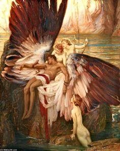 Icarus Painting | lamentação para Ícaro por Herbert James Draper (1863-1920, United ...