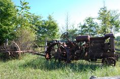We came across some old farm equipment on Pulaski Road.