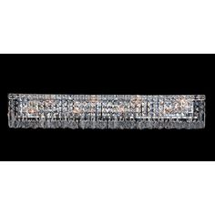 This stunning 8-light Vanity Light only uses the best quality material and workmanship ensuring a beautiful heirloom quality piece. Featuring a radiant chrome finish and finely cut premium grade cryst...
