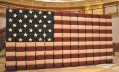 American flag made out of medium market baskets at the Homestead