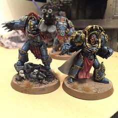 Butch and sundance #spacemarines #ultramarines #marneus #calgar #chaptermaster #NotiusAbydon #captain #17thCompany #cataphractii #terminator #fw #forgeworld #gw #gamesworkshop #wh30k #wh40k #warhammer30k #warhammer40k #hh #horusheresy #guilliman #primarch #perturabo #ironwarriors