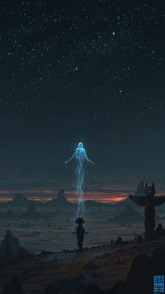 pidgeonsandpeeps:  Soul Ascending by Suiatsu. Illustration Inspiration Concept Art
