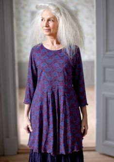 """""""Viva"""" print tunic in cotton & modal – SALE - Blouses & waistcoats – GUDRUN SJÖDÉN – Webshop, mail order and boutiques 