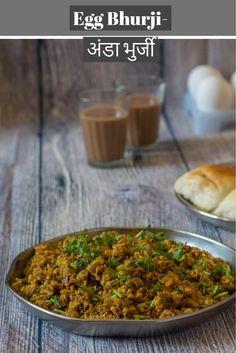 Anda Bhurji (Indian Scrambled Egg) - Kali Mirch - by Smita Egg Dish, Veg Recipes, Curry Recipes, Cooking Recipes, Pakora Recipes, Goan Recipes, Kitchen Recipes, Bread Recipes, Eggs