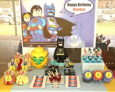 "lego+birthday+party+super+heroes | of 25: Lego SuperHero Party / Birthday ""Braiden's Lego SuperHero Party ..."