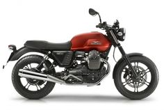 Moto Guzzi v7 Stone - cool, big fuel tank, dealers rare on the road, no ABS (yet)