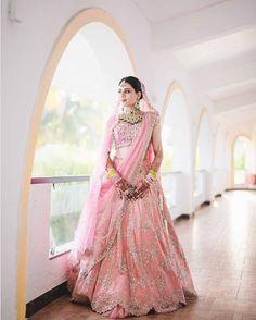 Bridal Lehenga Buying Guide Based On Body Type Pink Bridal Lehenga, Latest Bridal Lehenga, Latest Bridal Dresses, Pink Lehenga, Indian Bridal Lehenga, Indian Bridal Outfits, Lehenga Style, Lehenga Choli, Indian Dresses