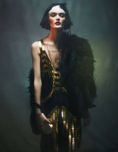 "Lilogi.com - ""The Golden Age"" - inspiration images, 1920's fashion, deco, #1920, #decofashion, #editorial,"
