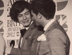 When they smile at each other on the red carpet like this. | 46 Times Harry Styles And Louis Tomlinson Proved They Belong Together