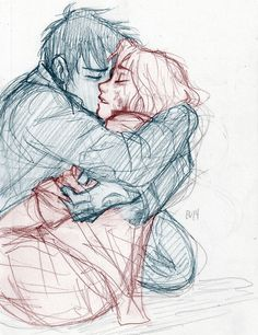 Is this Percy and Annabeth? Whoever it is, this picture makes my heart hurt. | Burdge Bug