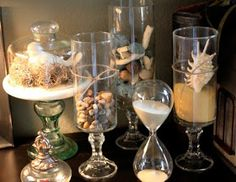 DIY:: Williams & Sonoma inspired glass hurricane candle holders