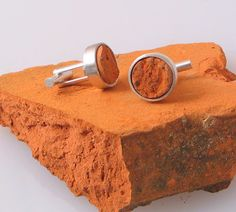 Brick Cufflinks by christinebossler on Etsy, $110.00 . . . . . der Blog für den Gentleman - www.thegentlemanclub.de/blog