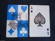 A♠ (card back K ♠♥♦♣) Vintage Single Swap Blue King Ace of Spades Playing Card Avon Products Cards | eBay