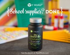 Does back to school craziness stress you out? Try Confianza! It is a natural way to calm and relieve stress. I love it!!