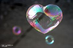 Soap Bubble Heart - Worth1000 Contests #soapbubble #heart #love #worth1000