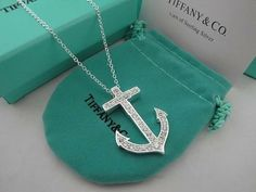 Tiffany and co Anchor Pendant Necklace Tiffany Rings, Tiffany Necklace, Tiffany And Co, Tiffany Blue, Tiffany Jewelry, Tiffany Outlet, Anchor Necklace, Anchor Jewelry, Nautical Jewelry