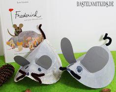 Kleine Mäuse für den Herbst basteln und Frederick dazu lesen