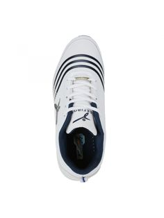 Buy Online White Blue Men Sports Shoes - Buy Online White Blue Men Sports Shoes Full-foot connection and bonus cushioning work hard for you on this zero-drop running shoe. Hyper-responsive insoles give you control. Your feet feel perfectly light & pampered in these shoes.