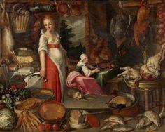 Joachim Beuckelaer (Umkreis) Küche mit Köchin und Magd.jpg
