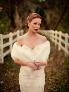 August bride: love this shrug for a late summer early fall wedding by Glam