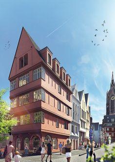 DomRömer Frankfurt - Markt 40 und der Krönungsweg von Westen