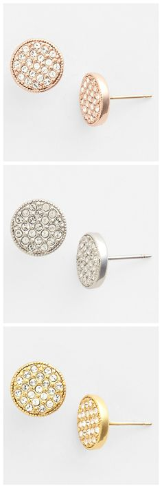 Love these sparkly stud earrings by Kate Spade!