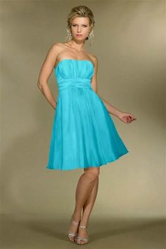 Cool blue bridesmaid dresses strapless 2017-2018
