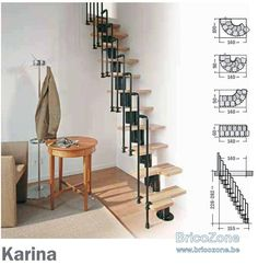 Small Space Staircase, Spiral Staircase, Small Spaces, Sweet Home, Stairs, Tiny Houses, Furniture, House Ideas, Images