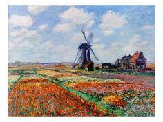 Monet: Tulip Fields, 1886 Giclee Print by Claude Monet at Art.com