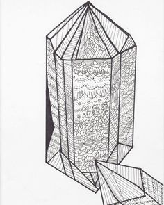 Crystals #crystals #doodle #zendoodle #zia #coloring page #coloringbook #crystal #drawing #art